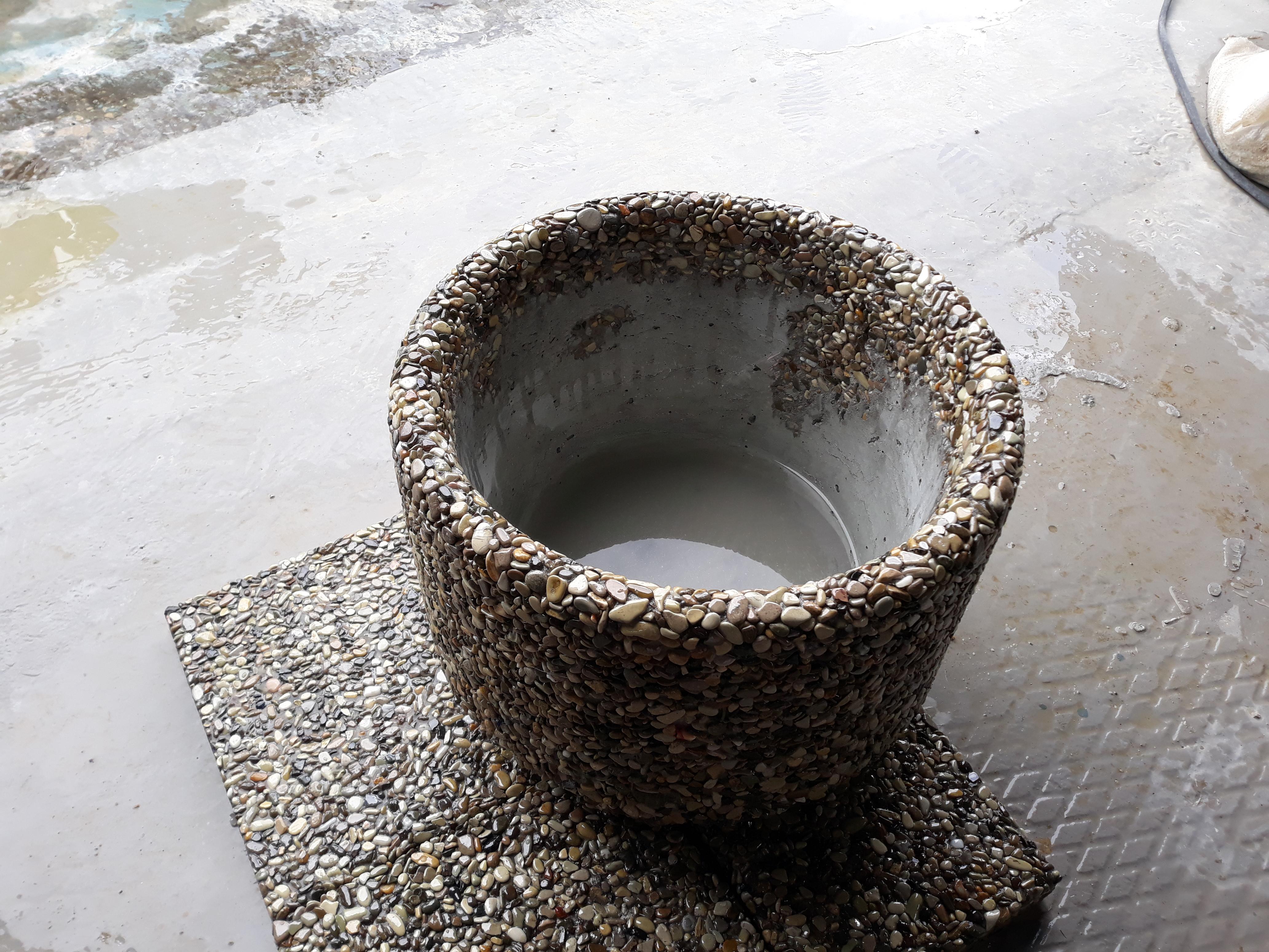 купить декоративную бетонную плитку из мытого бетона